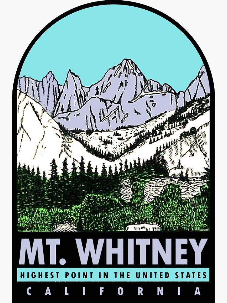 Calcomanía de viaje vintage de Mount Whitney, California de hilda74