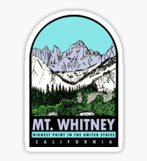 Mount Whitney California Vintage Travel Decal Sticker