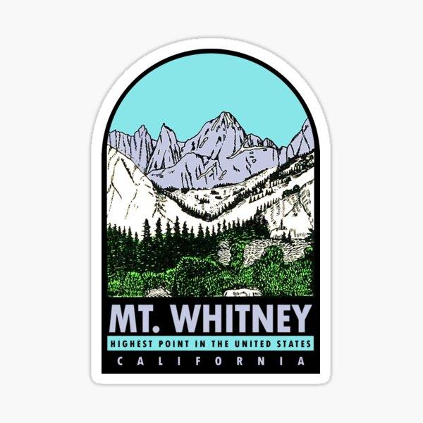 Mount Whitney California Vintage Travel Decal Sticker