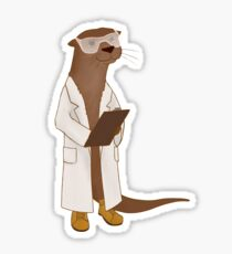 Science Otter! Sticker