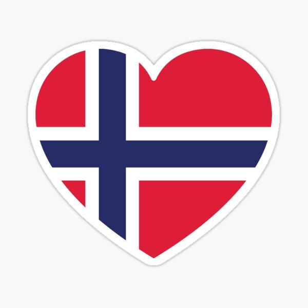 Heart Norway Sticker