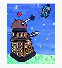 Dalek and Tardis Photographic Print