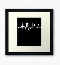 Yoda Heartbeat - Pulse Framed Print