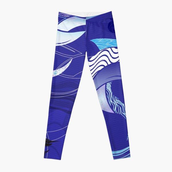 Blue Leggings - Marlin Maze Leggings