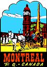 Montreal PQ Quebec Vintage Travel Decal by hilda74