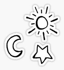 Sonne Mond und Stern Sticker