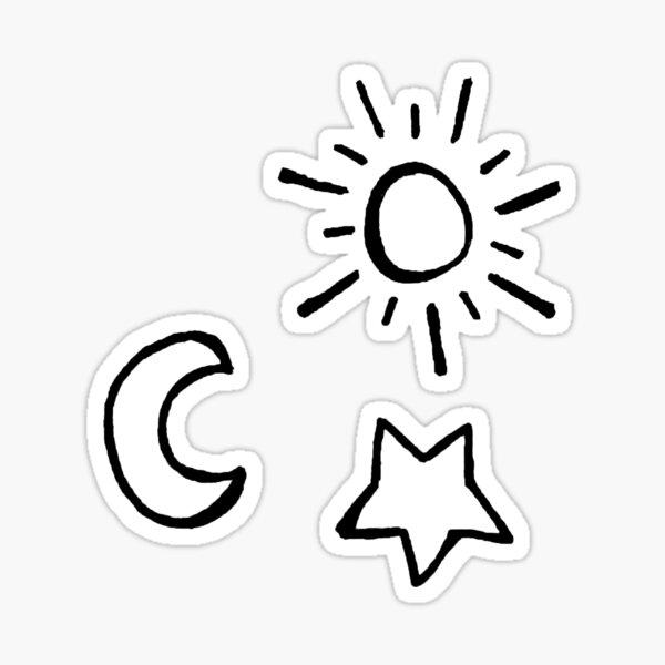 Sun Moon & Star Sticker