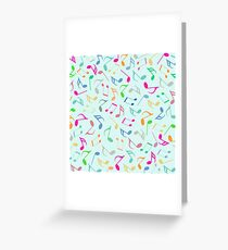 Music Colorful Notes Greeting Card