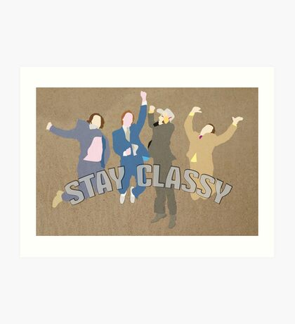 The Channel 4 news team (Stay classy) Art Print