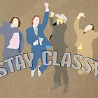 The Channel 4 news team (Stay classy) von SixPixeldesign