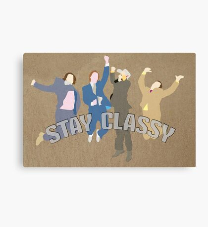 The Channel 4 news team (Stay classy) Canvas Print