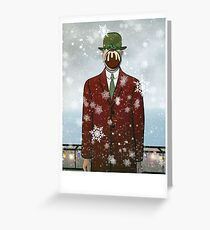 The Christmas Son of Man Greeting Card