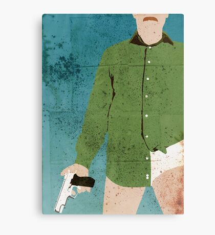 Walter White (distressed) Canvas Print