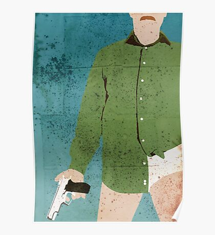 Walter White (distressed) Poster