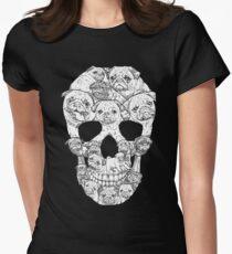Camiseta entallada para mujer Pug Skull