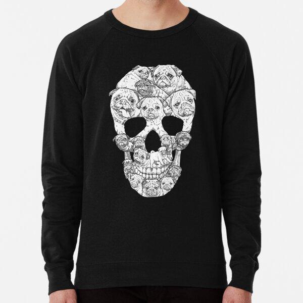 Pug Skull Lightweight Sweatshirt