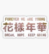 dream hope keep going  Sticker