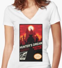 BLOODBORNE NES Women's Fitted V-Neck T-Shirt