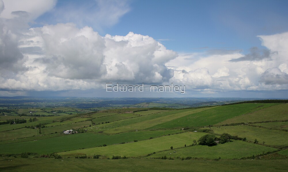 view over northern cork Ireland by Edward  manley