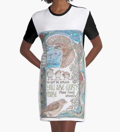 More than Many Sparrows Graphic T-Shirt Dress