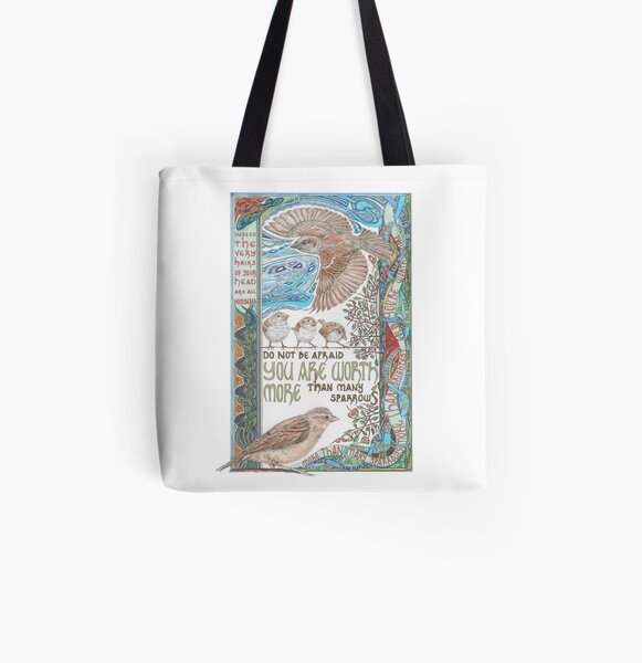 More than Many Sparrows All Over Print Tote Bag