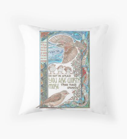 More than Many Sparrows Throw Pillow