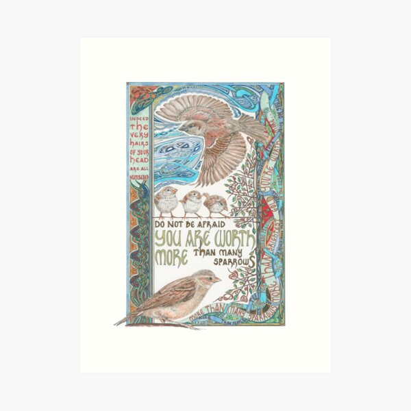 More than Many Sparrows Art Print