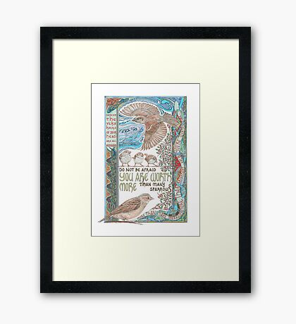 More than Many Sparrows Framed Print