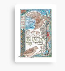 More than Many Sparrows Canvas Print