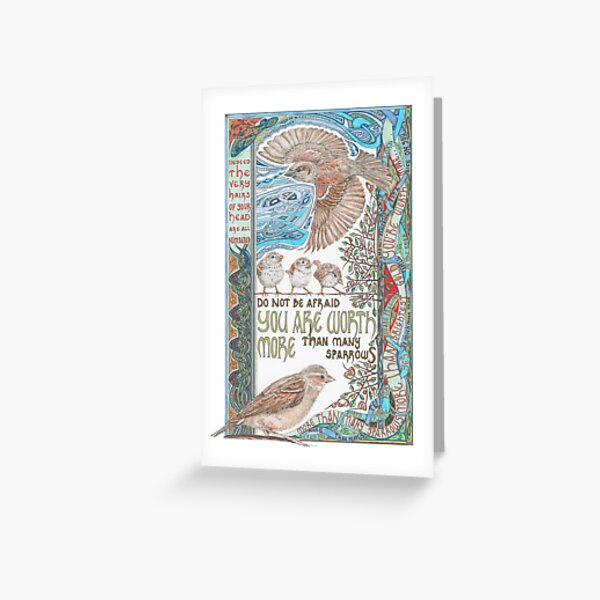 More than Many Sparrows Greeting Card