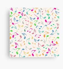 Music Colorful Notes II Canvas Print