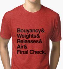 Scuba Diver Buddy Check BWRAF Tri-blend T-Shirt