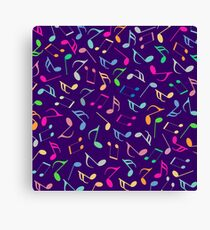 Music Colorful Notes III Canvas Print