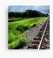 wrong side of the tracks Canvas Print