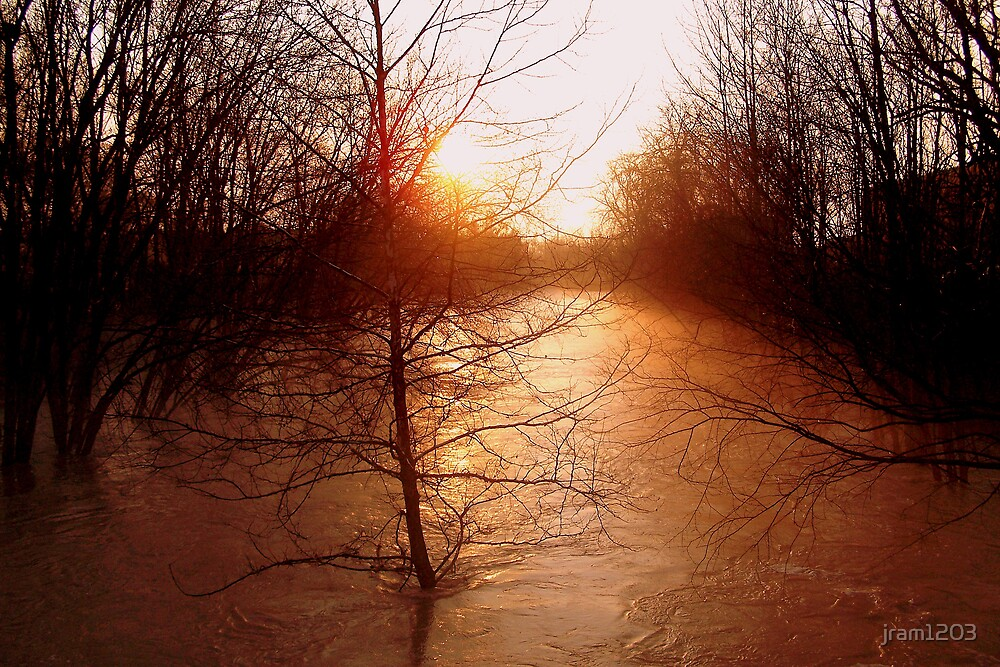 sunset flood by jram1203