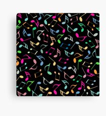 Music Colorful Notes IV Canvas Print