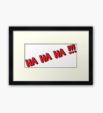 Funny Comic book word  Framed Print