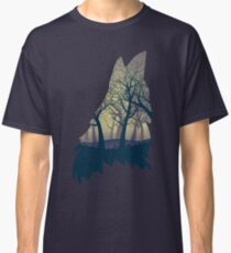 Wolf Howling with Forest 2 Classic T-Shirt