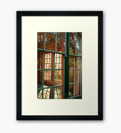 Cottage Windows,Cobin Farm Geelong Framed Print