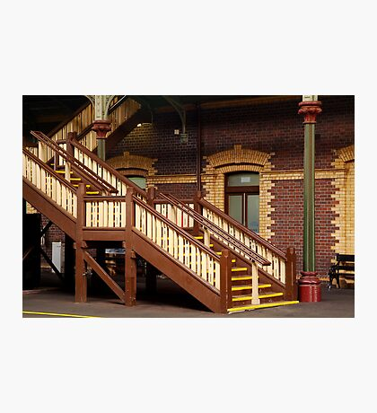 Staircase,Geelong Railway Station Photographic Print