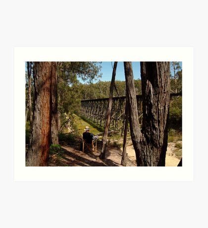 Trestle Bridge Colquhoun State Forest Art Print