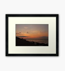 Sunset over the Solent from Cowes Framed Print