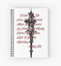 Molag bal - Black Spiral Notebook