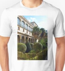 Spanish  courtyard with arched architecture Unisex T-Shirt