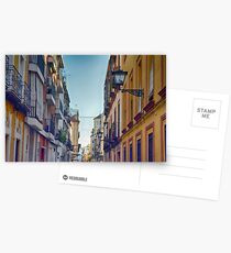 Colorful buildings on a street from Sevilla, Spain Postcards