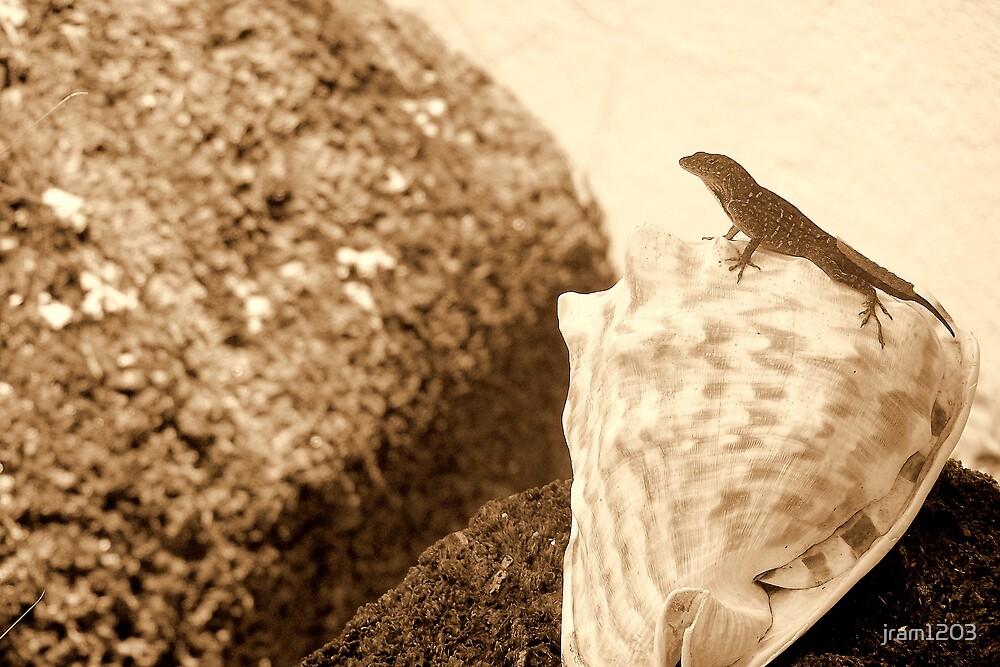 sepia lizard by jram1203