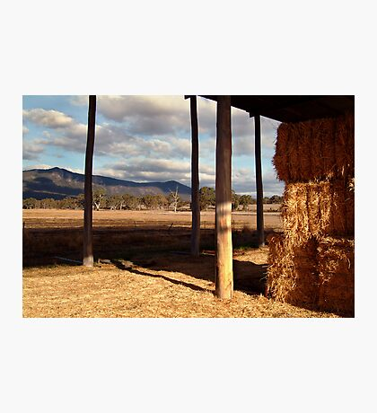 Hay Shed,Eversley, Mt Cole State Park Photographic Print