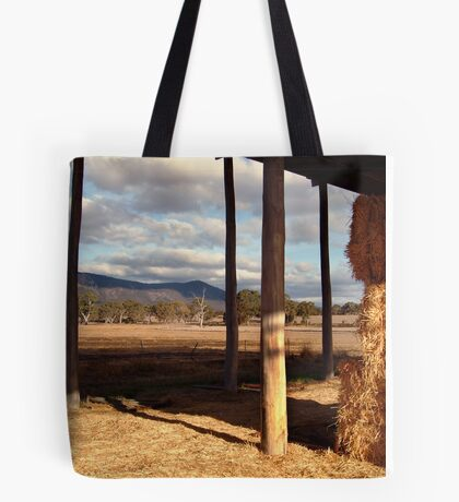 Hay Shed,Eversley, Mt Cole State Park Tote Bag