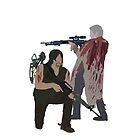 Carol Peletier and Daryl Dixon (Version 2) - The Walking Dead by mashuma3130