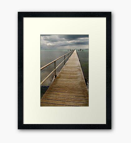 Jetty,Corio Bay Geelong Framed Print